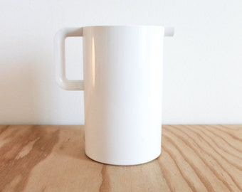White Massimo Vignelli Heller Pitcher