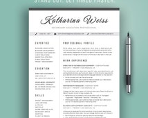 unique teacher resume related items   etsyresume template modern  cv template  instant download  word  professional resume design