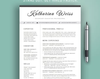 resume template modern cv template instant download word professional resume design - Modern Resume Template Download