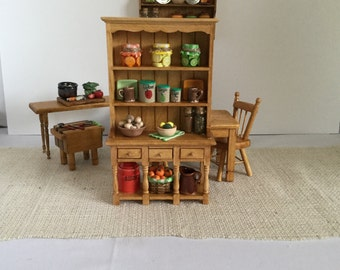 Country Hutch for 1:12 Scale Dollhouse