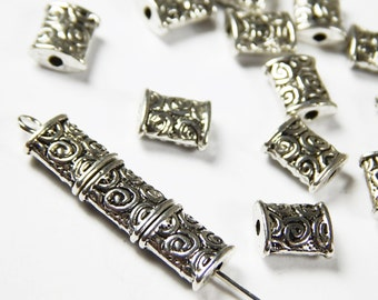 10 Pcs - 8.5x7mm Tibetan Silver Spacer Beads - Metal Spacer Beads - Jewelry Supplies