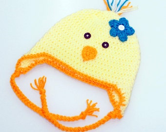 Crochet Chick Hat, Easter Hat