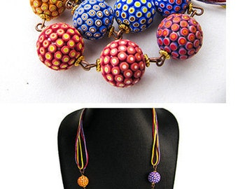 long Polymer clay Beads Multicolor beads Colorful Necklace Polymer clay jewelry Long Necklace Beaded Jewelery colorful beads gift for her