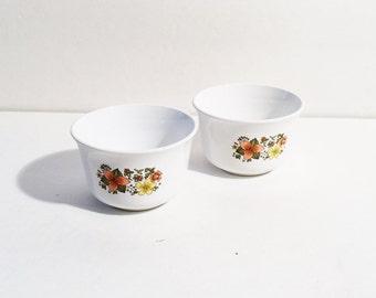 Vintage Corelle Indian Summer 2 Bowls, Vintage Corning Ware
