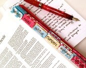 CATHOLIC Coral Red, Blue, Gold Books of Bible Tabs by Victoria Anderson