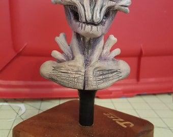Demon sculpture, monster sculpture, creature bust, monster art, monster bust, skull, creature sculpture, creepy art, halloween decor