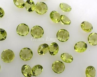 Peridot 5mm Round Faceted / Fine quality gemstones / August Birthstone /Olive Green Gemstones