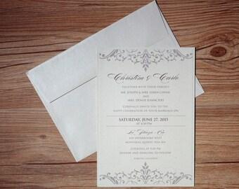 Enchanted  Invitation, enchanted Wedding Invitation, enchanted Invitations, enchanted Wedding Invitations, romantic wedding invitations