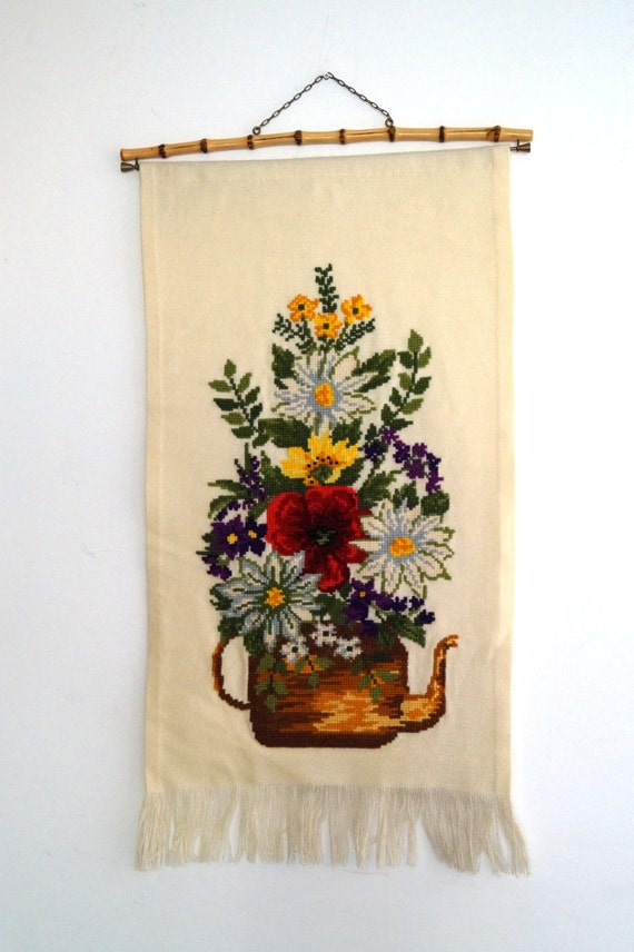 Vintage Swedish Embroidery Wall Art Decor By Vintagdesign