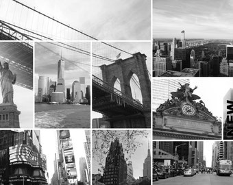 Mounting 16 x 24 New York, black and white pictures