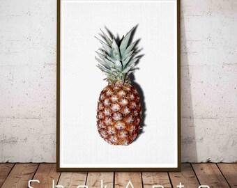 Pineapple Print, Printable Tropical Fruit, Pineapple Art, Pineapple Photo, Tropical Art, Tropical Print, Pineapple Wall Art Decor, Pineapple
