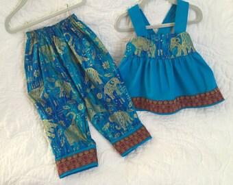 Toddler Pant Set / Girls Aladdin Pant Set / Trendy Baby Clothing / Size 3