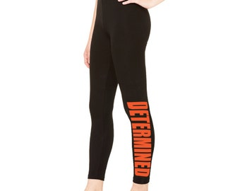 Workout Leggings, Determined, black