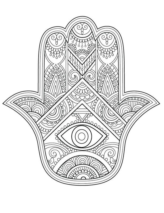 hamsa coloring pages - photo#5