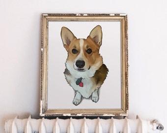 Dog Art Custom, Dog Illustration Custom, Dog Portrait, Custom Dog Portrait, Dog Memorial, Personalized Gift for Dog Lover
