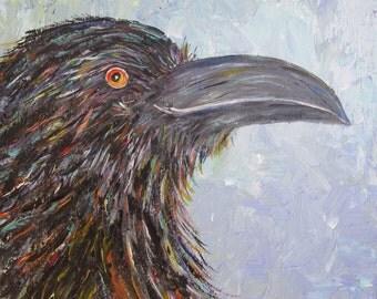 Elenore, Raven painting, Raven Art, Magic Messenger