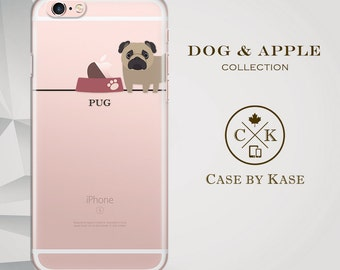 Pug Dog - Clear iPhone 6 Case, iPhone 6s Case, iPhone 6 Plus Case, iPhone 6s Plus Case (DA0002)