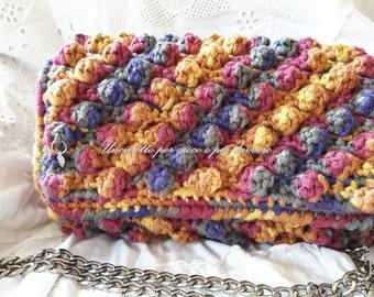 Crocheted bag hand made