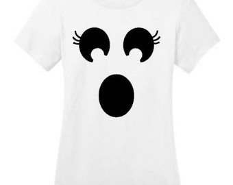 Ghost Shirt, Halloween shirt, Halloween Costume, Happy Halloween, Women's clothing, Halloween Costume, ghost tee, Ghost top, Tops and tees