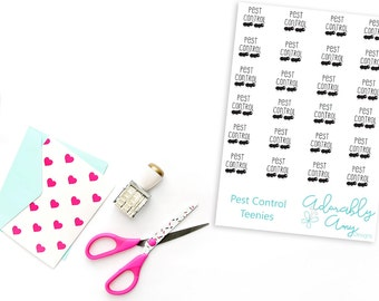 Teenies Pest Control Planner Stickers for  Kikki K, Color Crush, Filofax or any Size Planner
