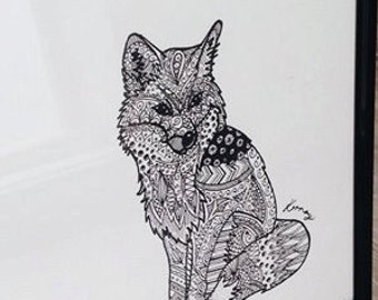 Hand Drawn Print {Fantastic Mr Fox}