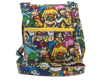 Nintendo Crossbody Bag // Sling Bag // Crossbody Purse // Hipster // Mario // Yoshi
