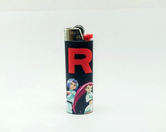 "Pokemon Team Rocket - Black with Rocket ""R"" Custom Lighter"