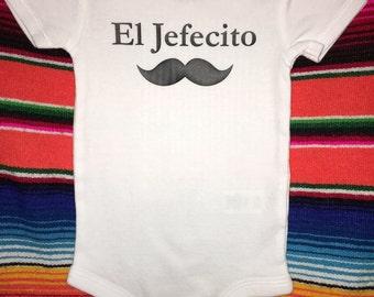 El Jefecito / baby clothes / onesie / bilingual / Spanish / baby shower gift / baby boy / multicultural