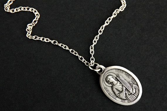 Saint cecilia necklace catholic saint necklace st cecilia like this item mozeypictures Choice Image