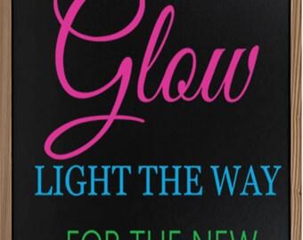 Let Love Glow - Wedding Sign - Wedding Chalkboard Sign - Wedding Signs - Rustic Wedding Sign - Chalkboard Sign - Wedding Decor