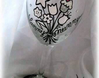 Yummy Mummy wineglass