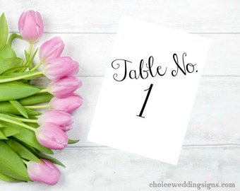 Table Numbers Wedding Sign For Your DIY Wedding CWS107_22