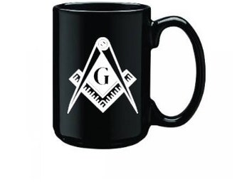 Masonic Mug- Masonic Emblem- Coffee Mug- Freemason