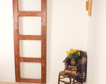 4 Panel Modern Panel Barn Door Glass Handmade