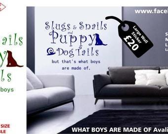 Boys Wall Sticker Slugs and Snails