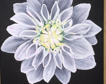 White Flower Acrylic Painting