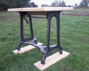 Rustic Cast Iron Table