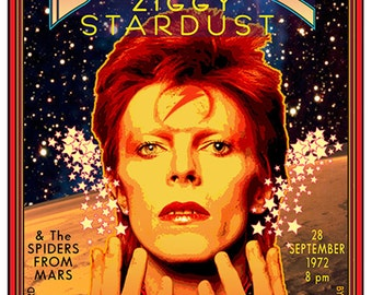 David Bowie Poster / 1972 Carnegie Hall • Rock Poster