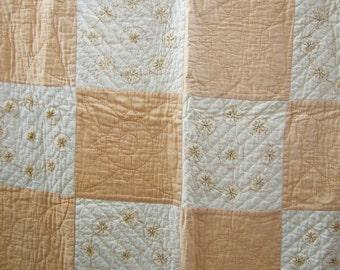 Hand sewn vintage quilt
