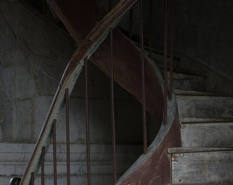 Staircase Print, Fine Art Photography, South of France, Old Church