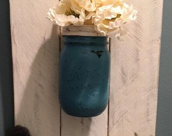 Rustic Hanging Mason Jar