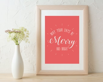 Merry and Bright Print & Card