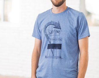 Welcome to Clintonville Heather Blue T-shirt