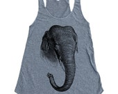 Elephant Tank Top - American Apparel Tri-Blend Tank - Available in sizes S, M, L