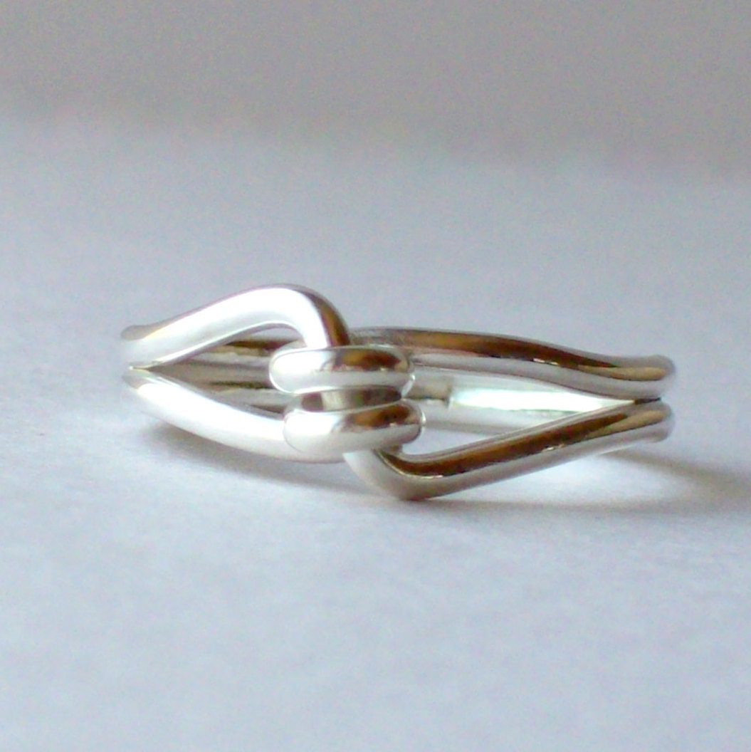 silver promise ring silver knot ring knotted ring silver