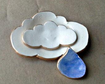 Ceramic Lace Cloud Nesting Trinket Dishes Off White edged in gold