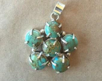 Turquoise Flower Pendant (Item #P67)