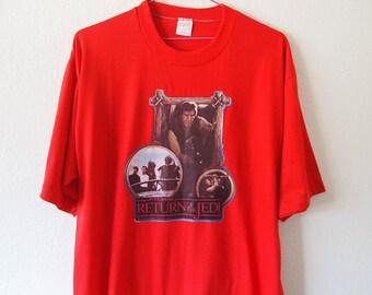 HAN SOLO // Vintage Star Wars Shirt 80s Return of the Jedi Tshirt Unisex Large Luke Skywalker Darth Vader 1980s Shirt Iron On Soft Thin