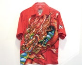 AWESOME 90s JNCO Jeans Red Dragon Shirt