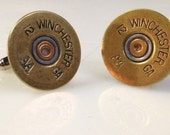 Bullet 12 Gauge Shotgun Cufflinks Soldered